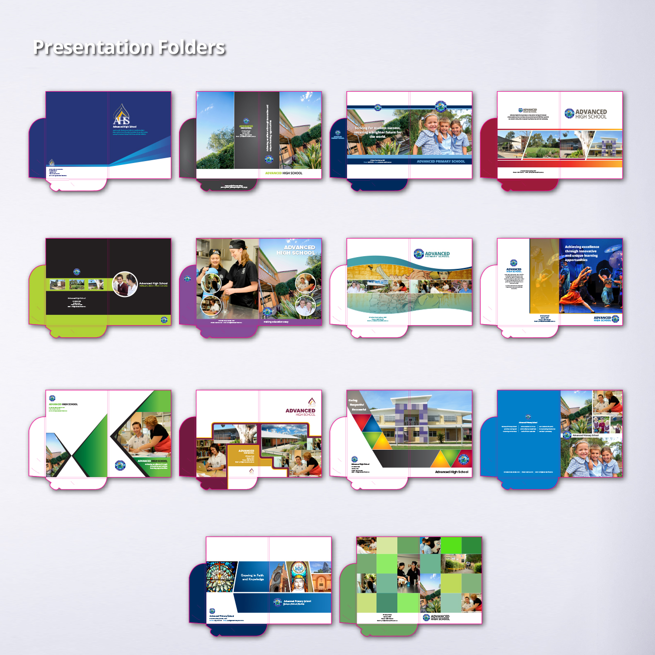 Presentation folder booklets with stitched inserts | mmprint.